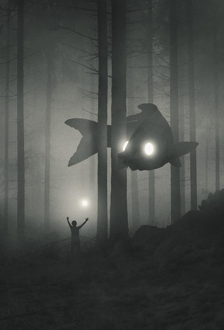 ▲▼波蘭憂鬱系畫家Dawid Planeta(圖/Intagram@minipeopleinthejungle)