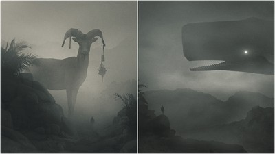 憂鬱症者一看就懂! 畫家筆下的「漆黑巨獸」睨視人類的無助渺小