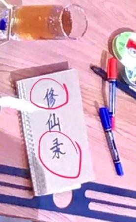 ▲楊超越被質疑「寫3個字錯2個」。(圖/翻攝自微博)