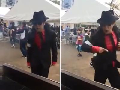 「麥可傑克森」顯靈買串燒!日人驚呼:點餐跳的舞好矬