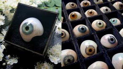 義眼比珍珠還美! 百年骨董來自「老師傅吹工」礦色化作深邃瞳孔