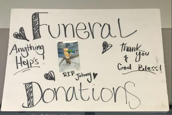 ▲加州3名男子以為Johnny辦喪禮為由,在高速公路求捐款。(圖/翻攝自San Bernardino County Sheriff Twitter)