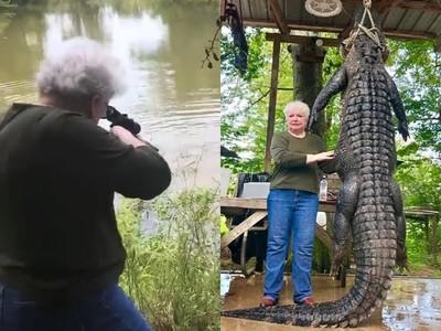別惹阿嬤生氣!300公斤猛鱷咬死寵物 她一槍ㄅㄧㄤˋ掉報仇