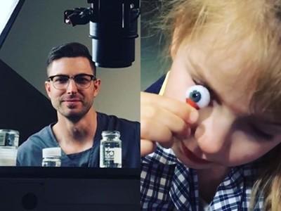 鑽油工「為愛女學做義眼」 看Youtube自學,完成20顆極美眼球