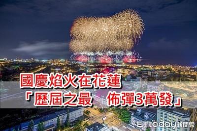 國慶焰火在花蓮 佈彈長1300公尺