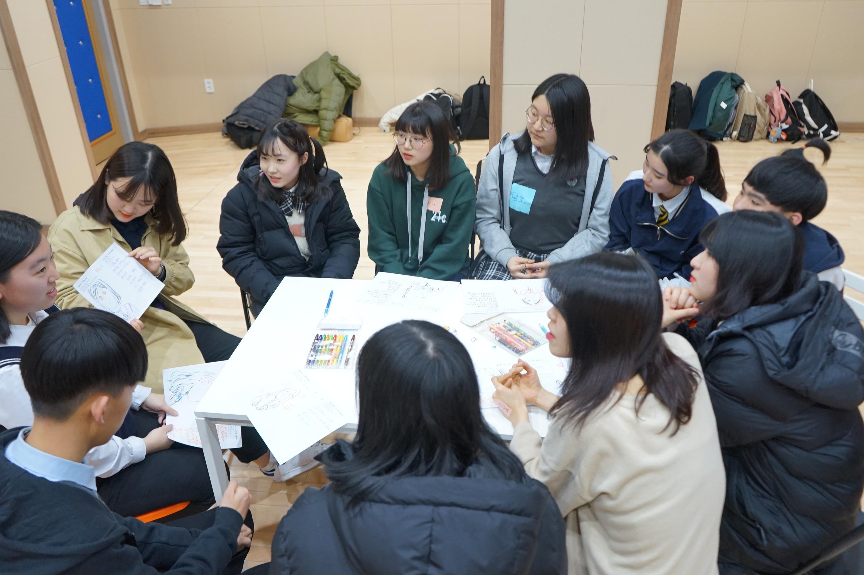 ▲▼南韓高中生(圖/取自flickr@광주청소년삶디자인센터)