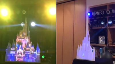 沒錢帶妹去迪士尼! 他在客廳蓋了「夢幻王國」試放煙火秀
