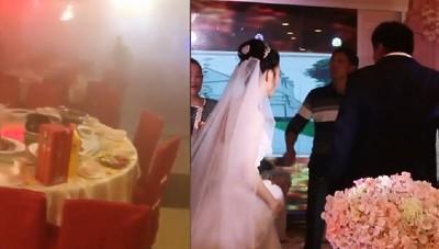 1樓燒大火 2樓淡定新人繼續結婚