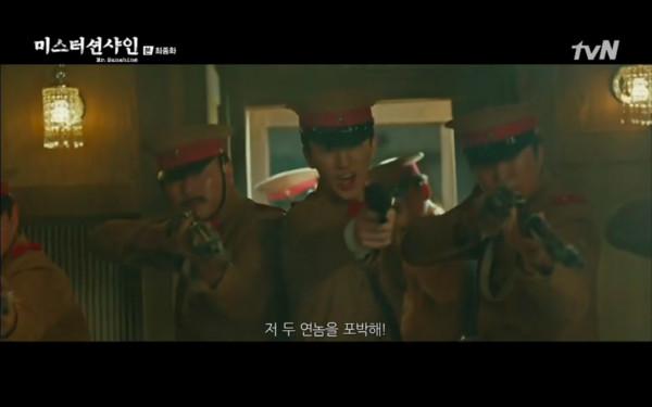 ▲▼崔宥鎮對抗日本軍人,把日本人逼退到最後一個車廂。(圖/翻攝自tvN)