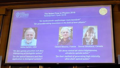 諾貝爾物理獎 美加法3學者獲獎