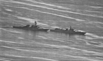 陸美艦交鋒照曝 外媒:2艦距離僅13m