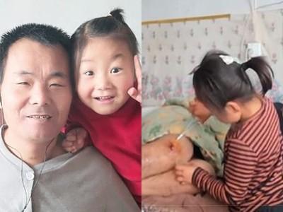 母棄家「6歲女照顧癱瘓父」!翻身擦澡又按摩 她笑說:學會就不累