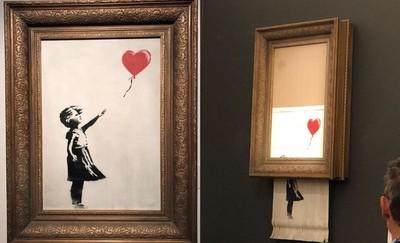 4266萬自毀名畫 改名「愛在箱中」