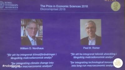 諾貝爾經濟學獎 美國2學者獲獎