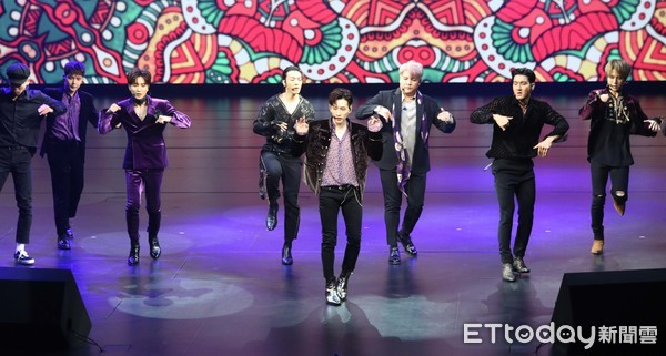 ▲Super Junior於8日舉辦的Showcase劇場。(圖/記者屠惠剛攝)