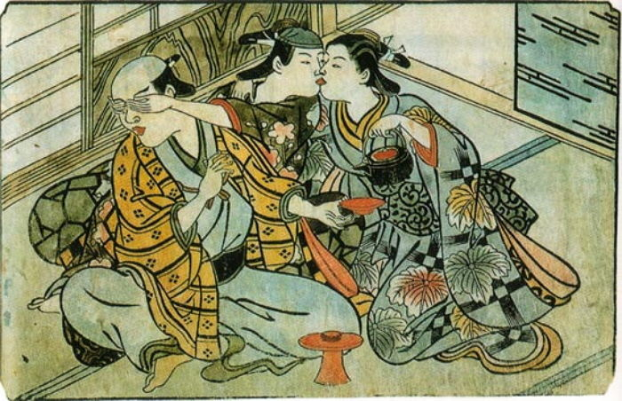 ▲▼日本春宮圖(圖/翻攝自維基百科)