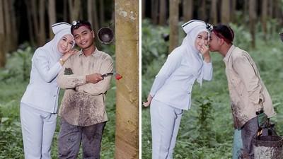 連禮服都買不起「婚紗照樣拍」!美麗護理師願嫁工人:愛情不分地位