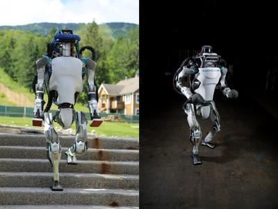 把人類比下去 機器人單腳在三層高台跑酷