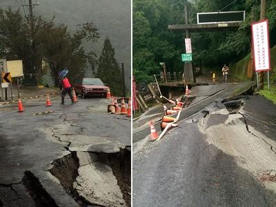 拉拉山神木區入口路崩100公尺緊急封閉