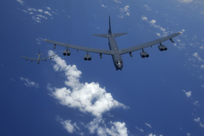 B-52H飛赴日本F-35失事海域引發熱議