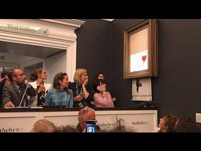 Banksy秒碎藝術品更增值?