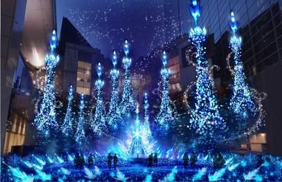 25萬LED燈將東京變身夢幻童話世界