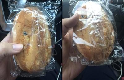 市場買炸彈麵包 正妹一摸是螺絲