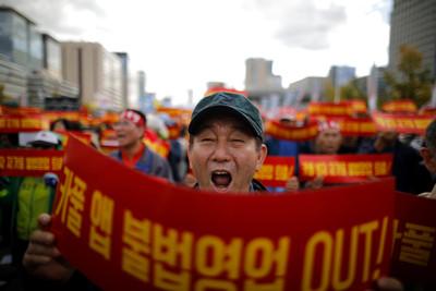Kakao擬推共乘服務 南韓運將上街抗議