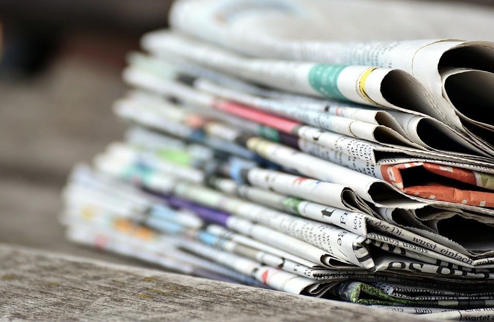 ▲報紙。(圖/取自免費圖庫pixabay)
