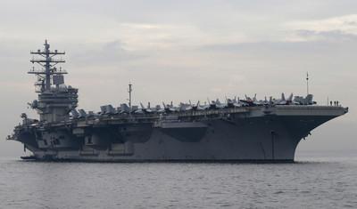 雷根號通過南海 美:保障安全穩定