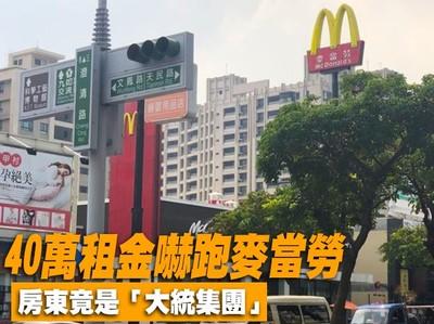 房東「大統集團」40萬租金嚇跑麥當勞