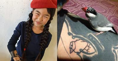 日本妹「拿老爸手臂當畫布」 超萌刺青師搶排隊