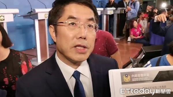 ▲台南市長候選人蘇煥智在「2018 台南市長選舉辯論會」中,指控黃偉哲涉嫌大創案2億7千萬元。(圖/記者洪正達攝)