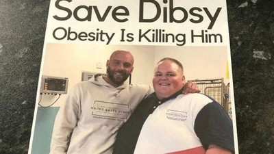 這輩子沒瘦過!胖男日吃1萬卡 教練印海報發店家:「請勿餵食他!」
