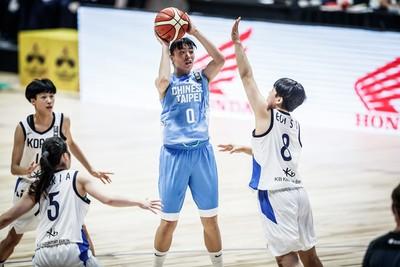亞洲U18女籃賽 中華不敵南韓