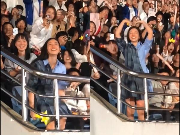 ▲陳妍希看楊丞琳演唱會。(圖/翻攝自微博/楊丞琳、陳妍希)