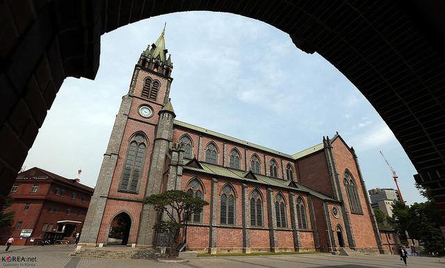 ▲▼首爾明洞教堂(圖/Flickr@Republic of Korea)