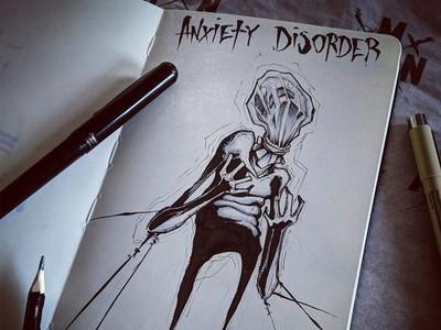焦慮症顫抖窒息...畫家用圖對抗汙名,畫下滿滿心理疾病