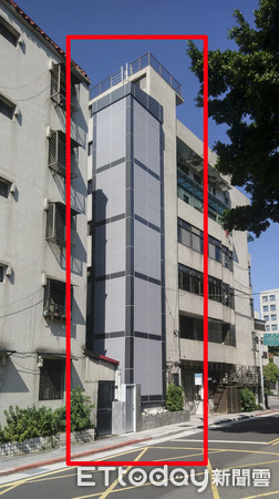 ▲▼老公寓裝電梯。(圖/北市都更處提供)
