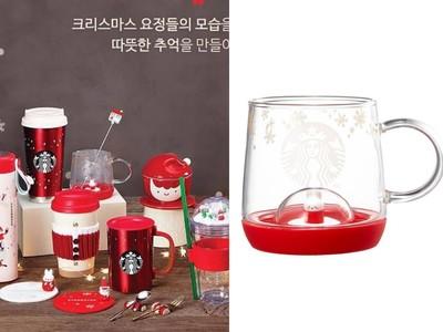 南韓星巴克聖誕節杯底躲著小兔兔