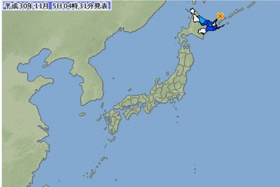 北海道深夜發生規模6.2強震