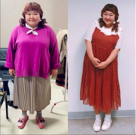 ▲▼南韓諧星洪允花,為穿婚紗減重30公斤。(圖/翻攝自洪允花IG)