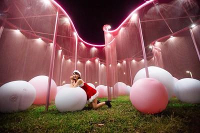 巨大粉白球池!屏東公園美照連發
