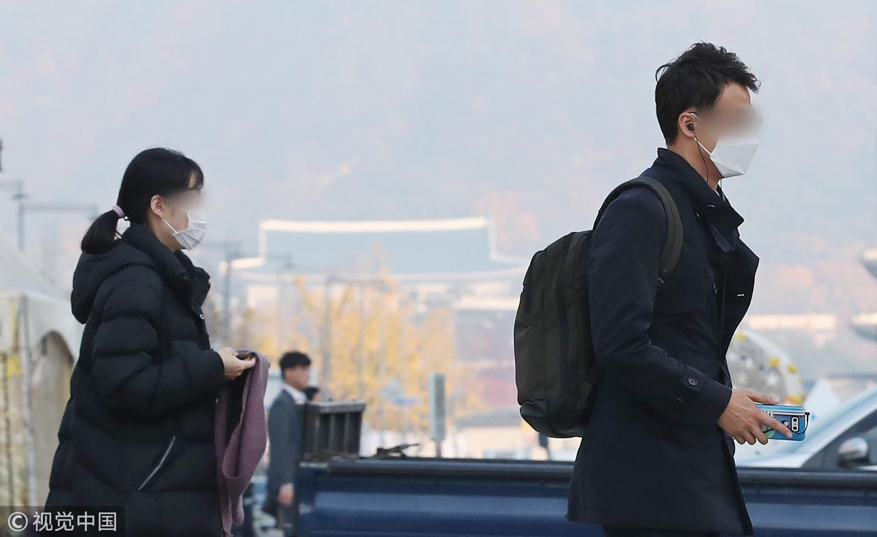 ▲▼11月5~6日南韓首爾霧霾(圖/CFP)