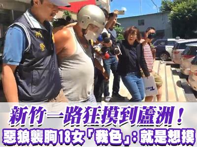 新竹一路摸到蘆洲 惡狼襲胸18女:就是想摸