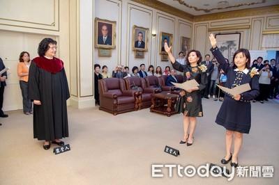 陳靜敏、林奕華宣誓就職立委
