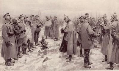 戰爭中的溫馨奇蹟! 英德士兵「聖誕節休戰」分享食物又踢球賽