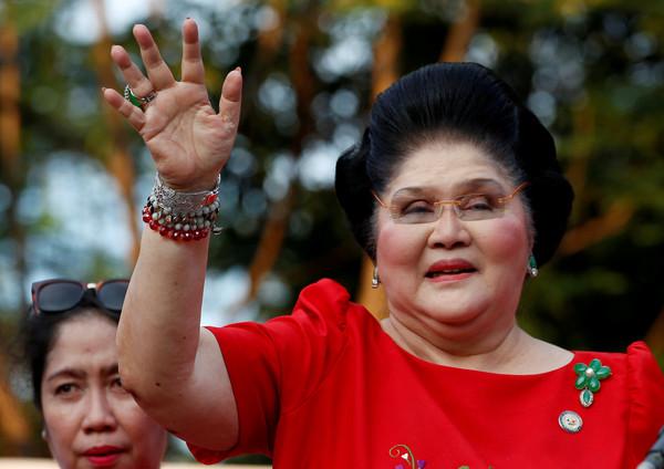▲菲律賓前獨裁者統馬可仕(Ferdinand Marcos)的遺孀伊美黛(Imelda Marcos)。(圖/路透)