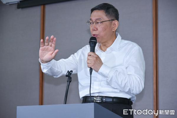 ▲▼台北市長候選人辯論,無黨籍候選人柯文哲。(圖/記者林敬旻攝)