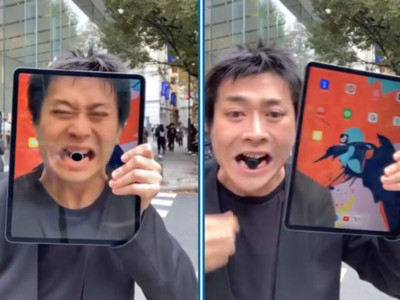 Home鍵「滑進螢幕」再用嘴咬出來!誇張iPad魔術,每秒都嚇到人